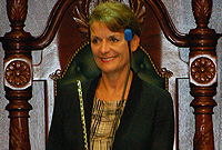 Her Excellency the Governor, Mrs. Helen Kilpatrick, CB, delivered her first Throne Speech in the LA on Monday, 7 October 2013.