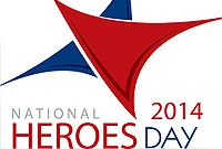 National Heroes Day 2014 logo