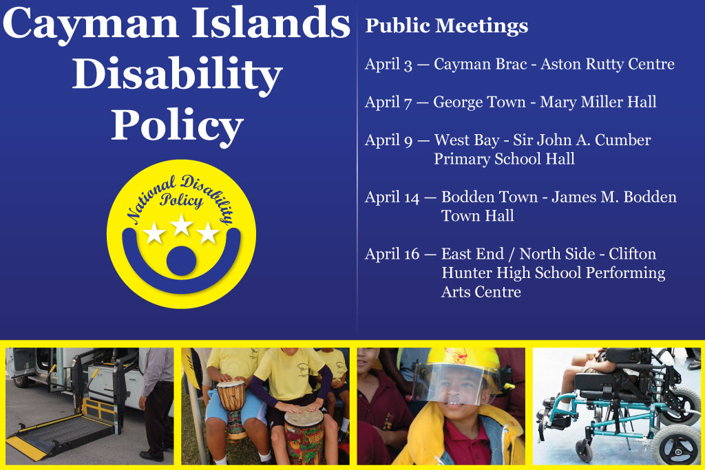 Public meetings on the Cayman Islands Disability Policy