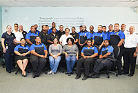 Officers from Customs and Police who received training, with Customs Collector Samantha Bennett, senior Customs Officers and trainers