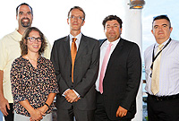 French Consul General, Mr. Philippe Létrilliart (centre), who is stationed in Miami, Florida, met government officials (l-r): Chief Officer in the Ministry of Home and Community Affairs, Mr. Eric Bush, Governor's Staff Officer Ms. Joanne Vaughan, French Honorary Consul in the Cayman Islands, Mr. Sebastien Guilbard and Head of the Governor's Office, Mr. Gary Benham.
