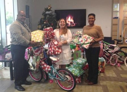 DCFS staff recieve gift donations from CIS