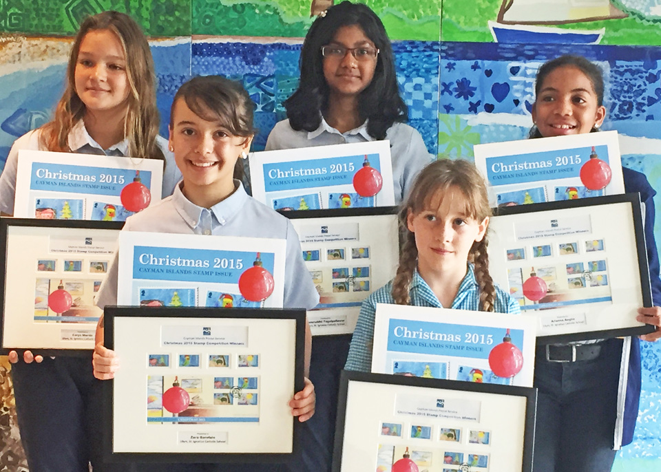 Winners of the first student stamp design competition