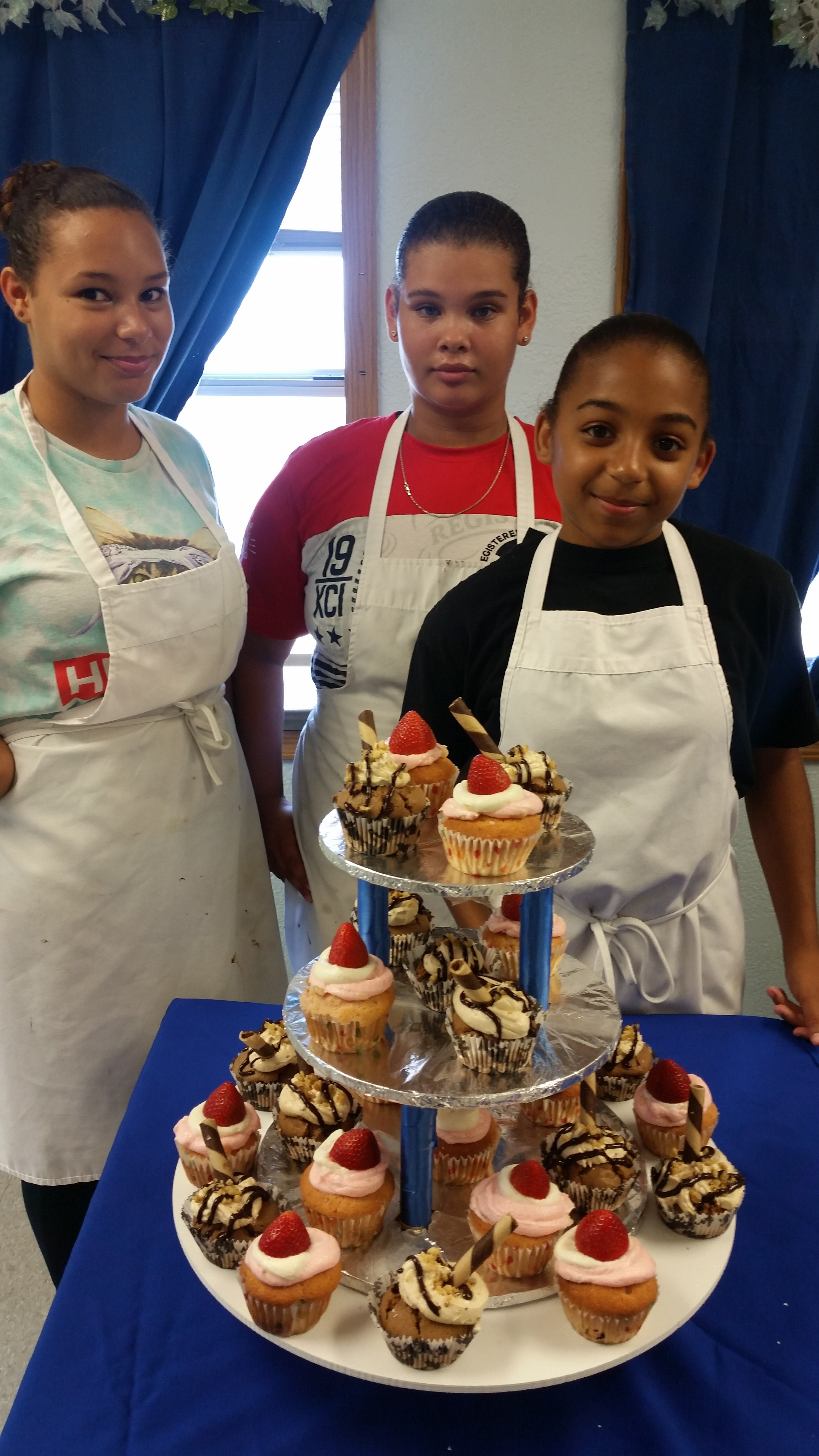 Team Vargas, Cayman Brac winners, will take on four other teams in the Cupcake War finale