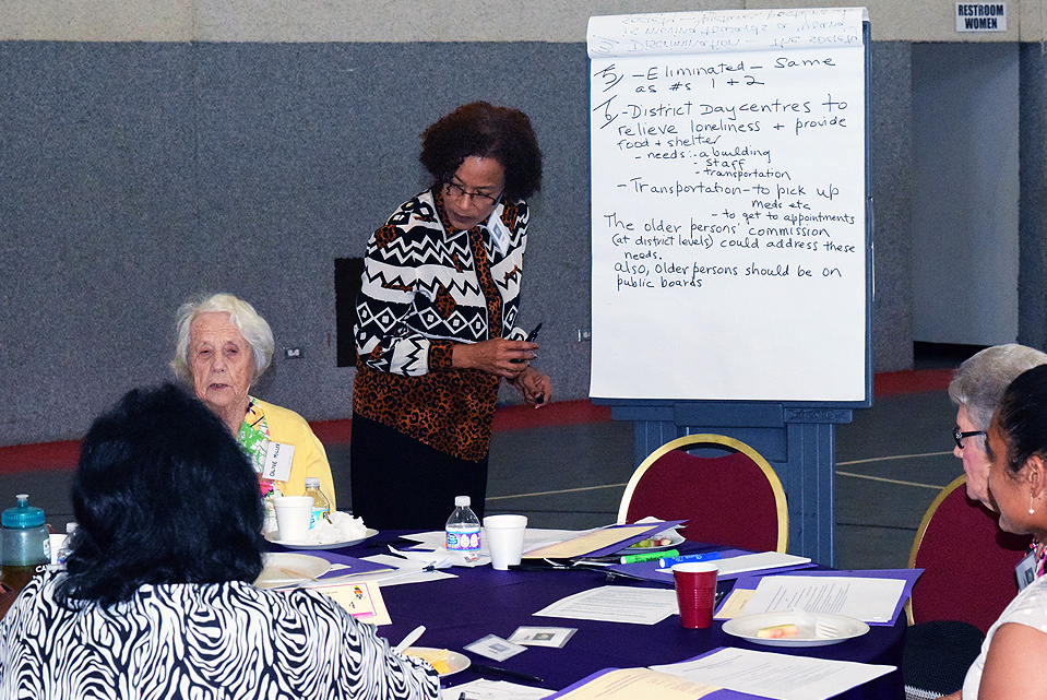 Stakeholders brainstorm ideas and issues at the recent National Older Persons Policy Workshop.