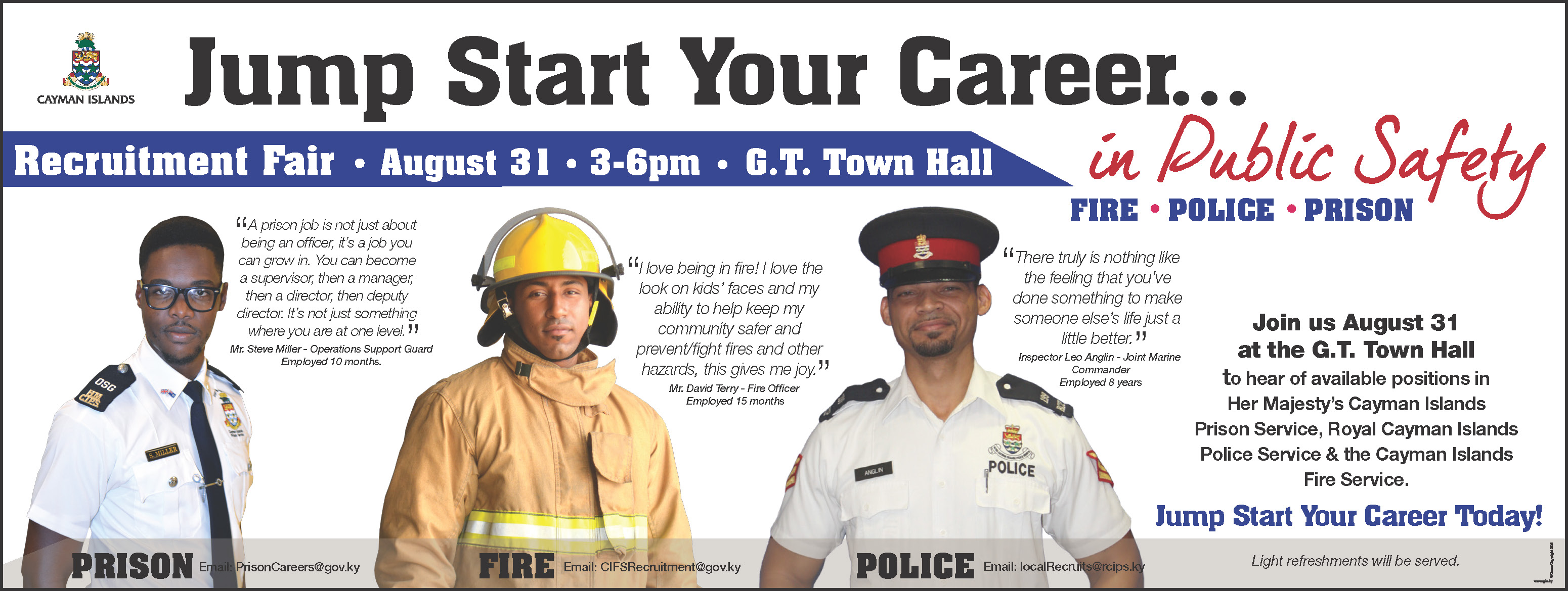 A joint job fair will take place to hire local law enforcement officers and firefighters.