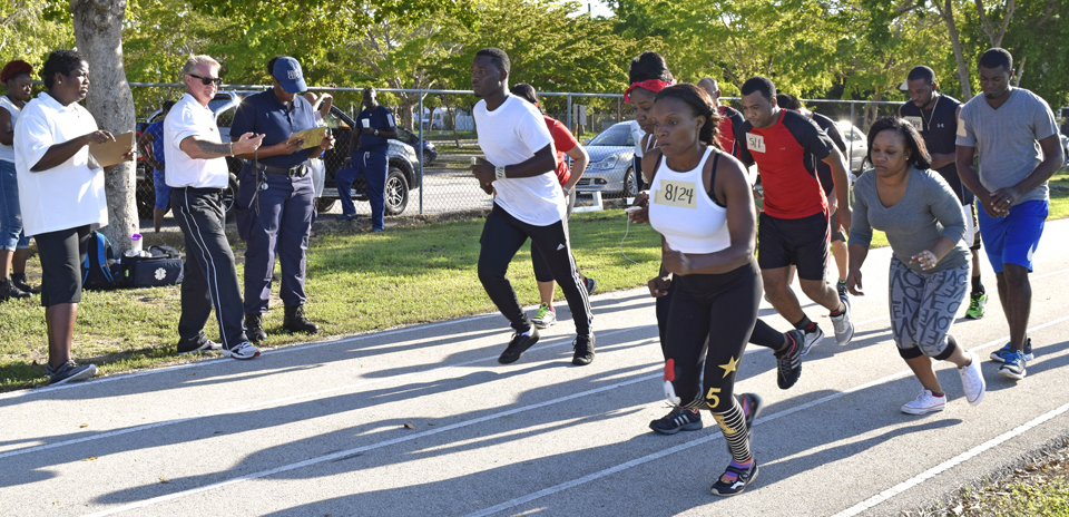 64 people hit the track early Saturday morning to put their fitness to the test.
