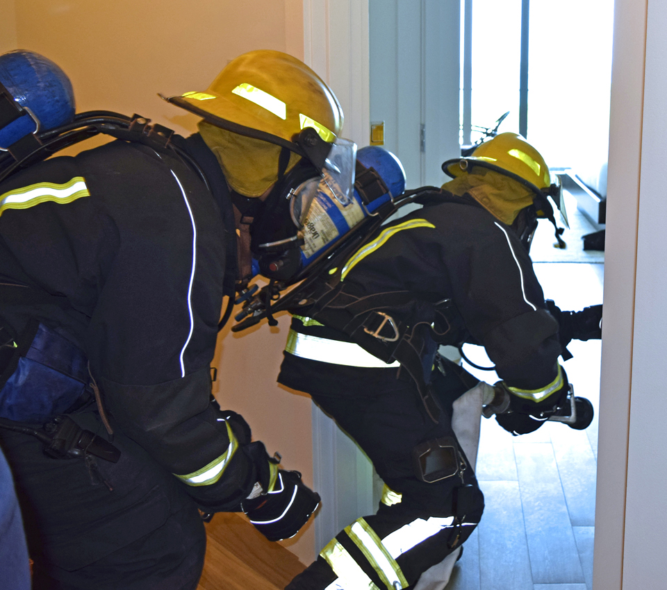 CIFS held a full scale training exercise to review all fire strategies on how to react to a high-rise emergency.