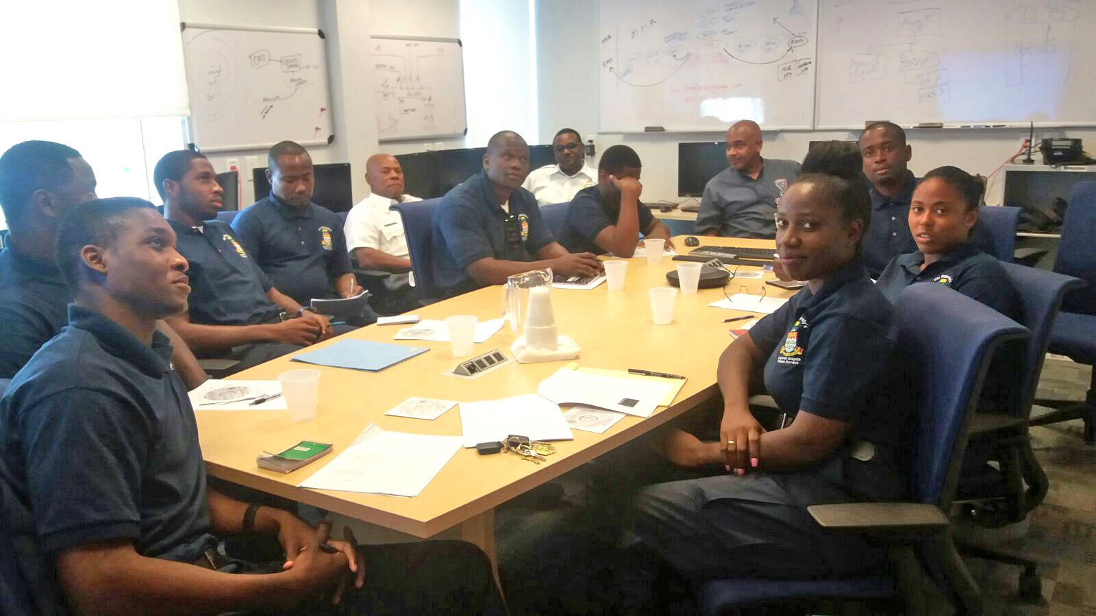 The new recruits received training on how to use the National CCTV Network.