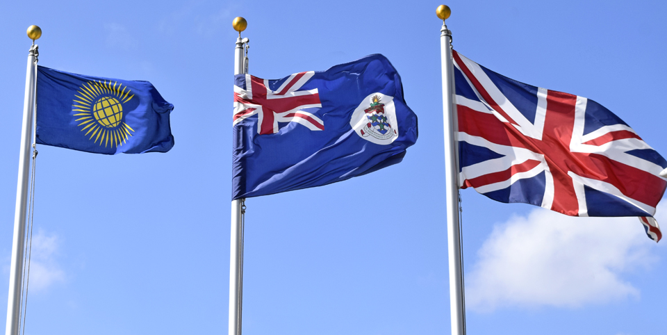 The Cayman Islands observed Commonwealth Day by raising the Commonwealth flag outside the Government Administration Building.