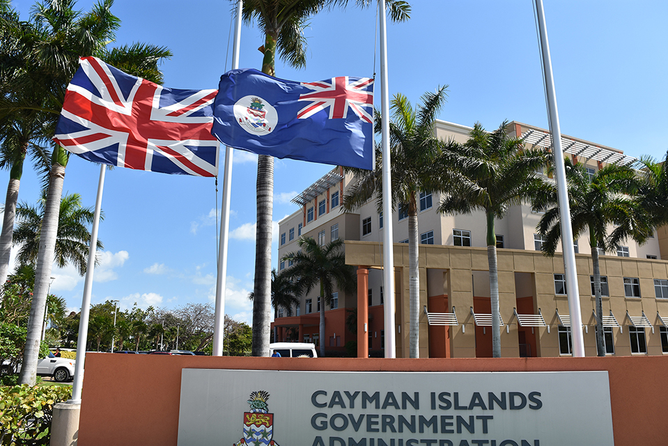 Flags flying at half-mast at the Government Administration Building today (Thursday, 23 March 2017).