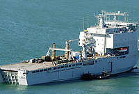 Royal Navy's auxiliary ship, RFA Mounts Bay