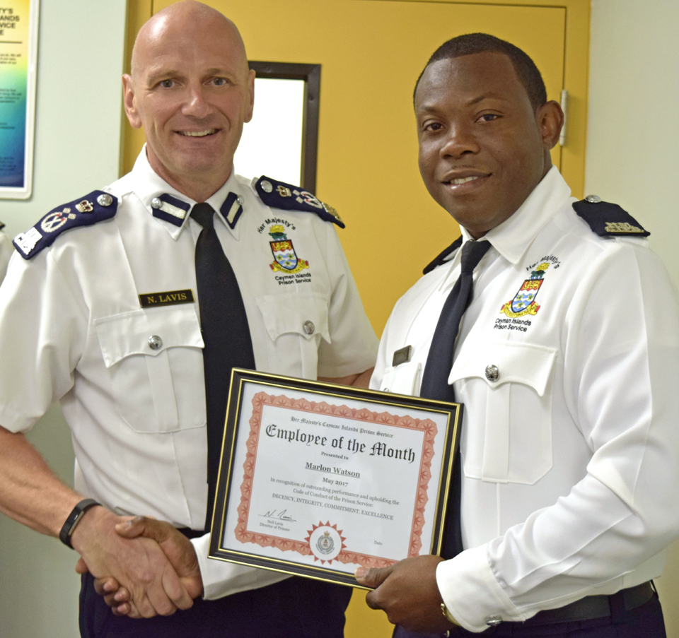 HMCIPS Prison Officer Marlon Watson has been named the newest employee of the month.