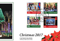 The Official First Day Cover with the four new Christmas stamps in the Post Service's seasonal issue