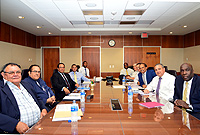 His Excellency the Governor, Mr. Anwar Choudhury (third from right) chairs his first meeting of the National Security Council on Tuesday afternoon (10 April 2018).