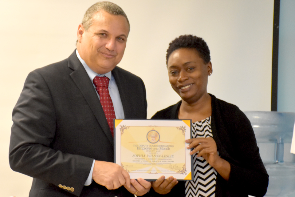 Empowering clients earns probation officer Sophia Wilson-Leslie, Employee of the Month.