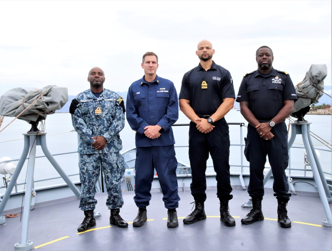 The joint mission targeted illicit maritime activity within the region.