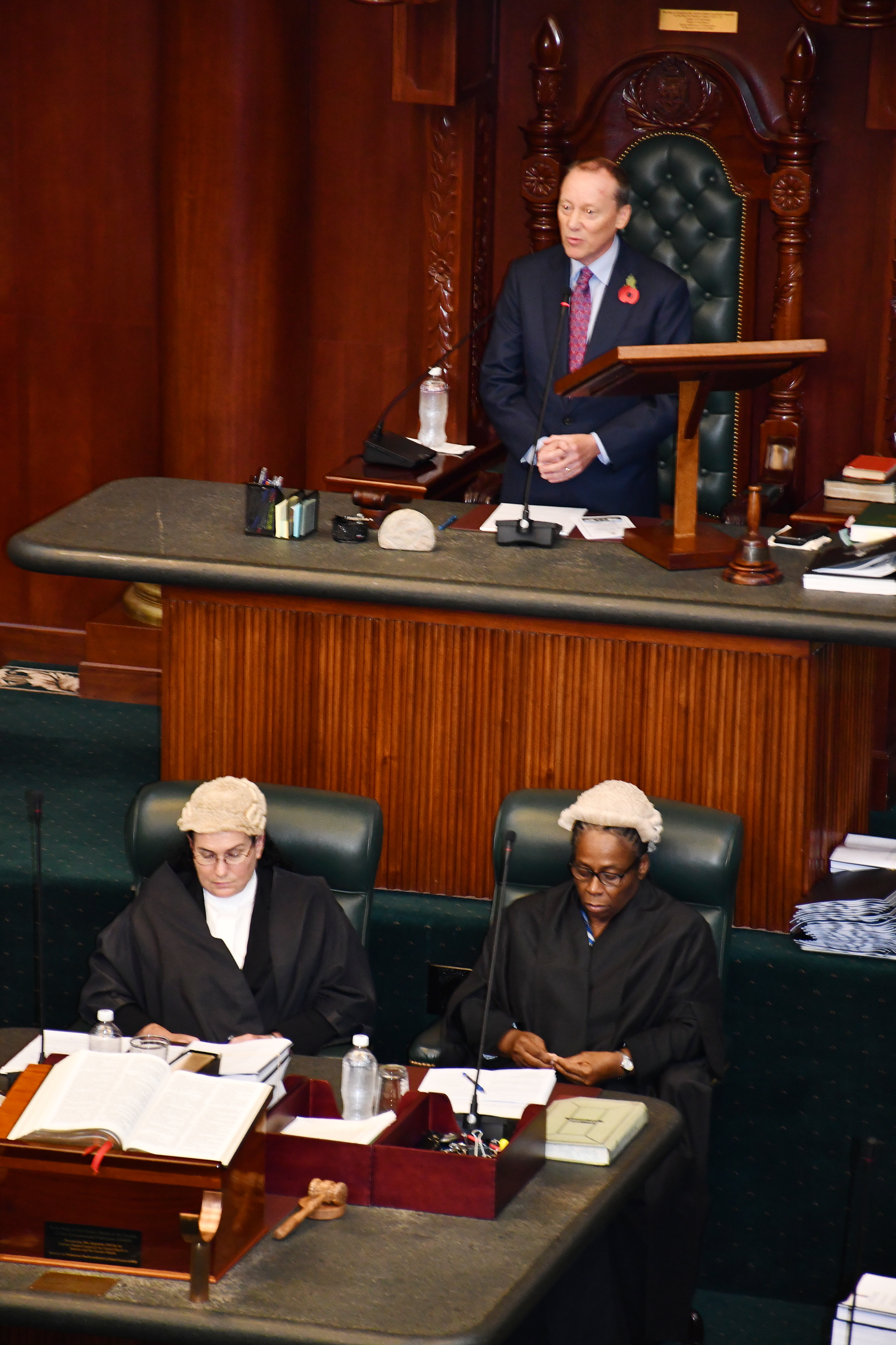 Governor Delivers Throne Speech