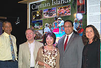 Cayman was well-represented at the OCT EU Forum welcome dinner at Pedro St. James on Wednesday evening. (L-R) Mr Leonard Dilbert, HE the Governor Stuart Jack, Mrs Mariko Jack, Minister of Education Alden McLaughlin and Cayman's UK Representative Jennifer Dilbert.