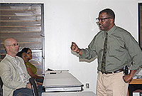 Inspector Anthony White makes a point during the seminar