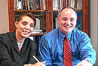 (L-R) The Portfolio of the Civil Service Chief Officer Mary Rodrigues and the Civil Service College Director Ryan Lanham.