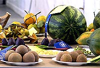 Local produce displayed at the Agricultural Show.