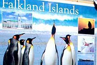 Part of the Falkland Islands display from