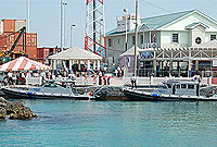 Two of Cayman's new police vessels.