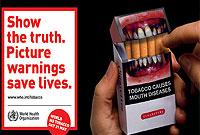 According to WHO, up to half of all smokers will die from a tobacco-related disease.