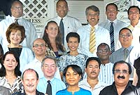 Some of the participants with HE the Governor Stuart Jack, CVO (second row, second from L).