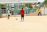 The freshly-paved playground area at George Town Primary School.