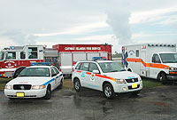 Emergency vehicles fitted with the Sat-Trak system.