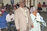 Rollin and Etta Ebanks joined two other couples to renew their vows in a Frank Sound Church of God ceremony last Sunday (25 October).