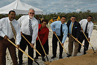 Ground is broken for the construction of 12 houses under the NHDT Affordable Housing Project.