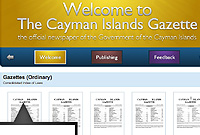 The new website of the Cayman Islands Gazette is user-friendly.