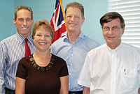 Human Rights Commission members (L-R): Mr. Alistair Walters, Mrs. Cathy Frazier, Chairman Richard Coles, and Rev. Nicholas Sykes. Not pictured is Ms. Sara Collins.