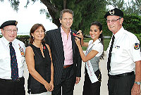 From left)   Cayman Islands Veterans Association President, Capt. Dale Banks;  
