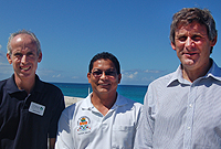 Key Darwin Review persons: (L-R) The Nature Conservancy Marine Science Programme Manager James Byrne, DOE Senior Researcher Croy McCoy and Senior Lecturer in Marine Sciences at the Bangor (Wales) School of Ocean Sciences Dr. John Turner.