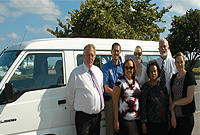 The 12-seat van donated to the Family Resource Centre.