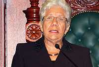 Speaker of the House, Hon. Mary Lawrence, MBE, JP.