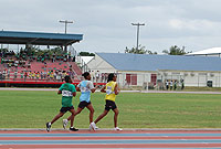 Athletes competing at last year's Interscholastic Track and Field Meet.