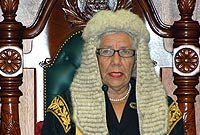 Speaker the Hon. Mary J Lawrence MBE, JP