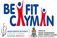 Small steps to better health.(Be Fit Cayman logo)