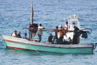 The Cuban vessel was intercepted off Cayman Brac.
