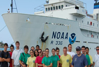Students visited the research vessel Gordon Gunter.