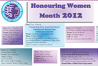 March is celebrated as Honouring Women Month with a number of activies.
