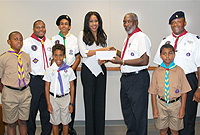 At the all Foundation cheque handover to CI Scouts