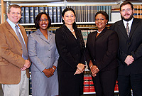 This GIS file photo depicts the Law School moot team in 2007. Director of Legal Studies, Mr. Mitchell Davies is first left.