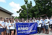 KPMG staff gives the Caribbean Haven Residential Centre a facelift.
